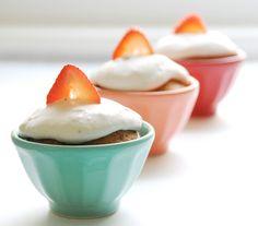 gluten free strawberries and cream cupcakes