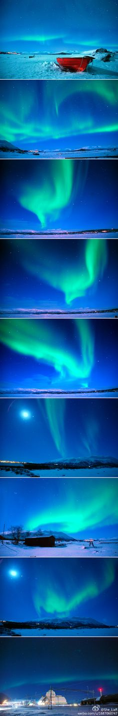 Beautiful. If you've never seen the Northern Lights, this is what they look like. They wave and fade and glow. Just beautiful.