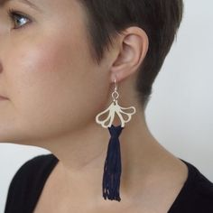 AURORA earrings are ostentatious, but extremely light statement earrings. A pair of earrings only weighs about 5 grams. Statement Earrings, Drop Earrings, Sustainable Fashion, Aurora, Jewelry Collection, Summer Outfits, Blue, Summer Wear, Drop Earring