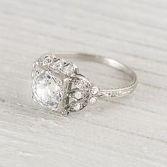 1.54 Carat Vintage Art Deco Engagement Ring.