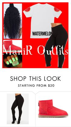 """""""Watermelon"""" by queen-peaches ❤ liked on Polyvore featuring UGG Australia"""