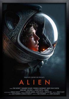 Alien 1979, Alien Film, Alien Movie Poster, Movie Poster Frames, Aliens Movie, Alien Art, Sci Fi Horror Movies, Horror Movie Posters, Horror Books