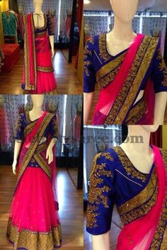 Half Saree with Elbow Length Blouse...the colours
