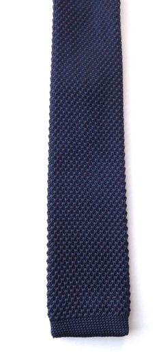 TOPMAN Skinny Knitted Neck Tie Dark Blue Mod Northern Soul Scooter FREE P&P #Topman #Tie