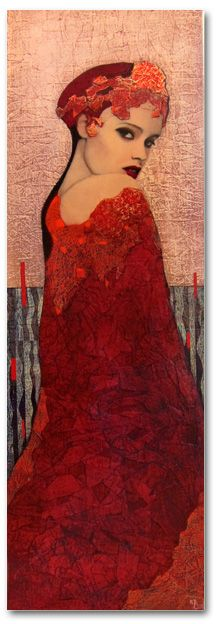 by artist Richard Burlet was born in France in He is influenced by Austrian symbolist painter Gustav Klimt and Art Nouveau. Gustav Klimt, Figure Painting, Painting & Drawing, Richard Burlet, Portrait Art, Medium Art, Figurative Art, Female Art, Lady In Red