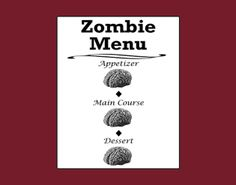 Zombie Menu  decoration