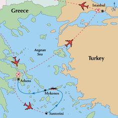 13 Day Greek Islander with Istanbul,Greek Islands Vacation, Greek Island Tour - www.gate1travel.com,  $1849 Land only, $2589 w air