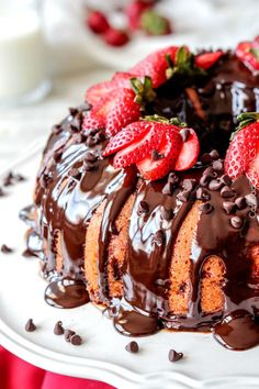 Chocolate-Covered Fresh Strawberry Pound Cake: This cake will make you think twice about ever using a box mix again.