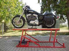ponte alzamoto fai da te (homemade motorcycle lift table) - YouTube
