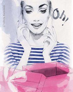 Le illustrazioni di Alicia Malesani  #fashion #illustration