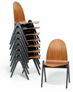 'Knock-down' side chairs by Yngve Ekström for sale at Deconet