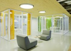 Inblum Architects designs Wix offices in Vilnius with glazed meeting rooms and colorful curtains Creative Office, Cool Office Space, Interior Architecture, Interior Design, Bespoke Furniture, Commercial Interiors, Design Firms, Office Interiors, Design Projects