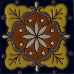 Relief Tile from is for any project. Use alone or combine them into creative Often, the are used for and floor well accents. High relief tiles are twice as thick as regular tile and significantly more resistant to physical damage. Tile Art, Mosaic Tiles, Mexican Tile Kitchen, Mexican Tiles, Tile Stairs, Buy Tile, Painted Stairs, Painted Tiles, Stair Risers