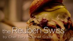 The Reuben Swiss :: oh my goodness this cheeseburger recipe looks great!