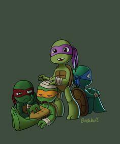Toddler Mutant Ninja Turtles by BrushBell.deviantart.com on @DeviantArt