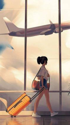Cartoon Girl Images, Cartoon Girl Drawing, Cartoon Art Styles, Girl Cartoon, Cute Cartoon Wallpapers, Animes Wallpapers, Aesthetic Art, Aesthetic Anime, Japon Illustration