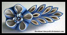 Eggshell Blossom Kanzashi by ~Kurokami-Kanzashi on deviantART