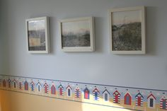 The beach pictures in the new seating area at the end of the hall