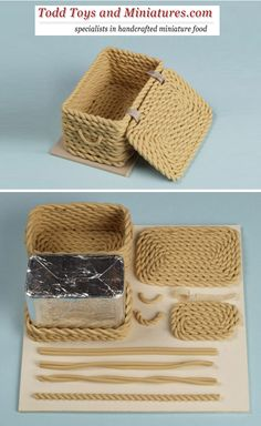 I know this is modeling clay, but it wouldn't be terrible difficult to figure out how to crochet a little basket like this. I like it!