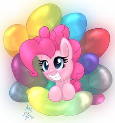 MLP FIM - Pinkie Pies Balloons by Joakaha.deviantart.com on @deviantART