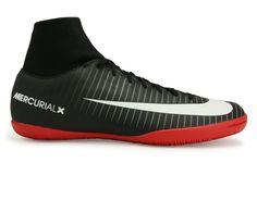 aea995651473 Nike Men s MercurialX Victory VI Dynamic Fit Indoor Soccer Shoes Black White Dark  Grey