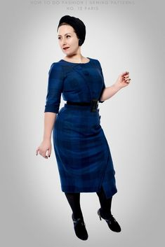 Do like Nanna here, and make your vintage sewing pattern in a wool fabric so you can keep warm during the winter. Dress Sewing Patterns, Vintage Sewing Patterns, 1960s Inspired, Sewing Blogs, Sewing Projects, Paris Dresses, Winter Dresses, T Shirts, Dresses With Sleeves
