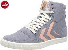 Slimmer Stadil Duo Canvas High, Sneakers Hautes Mixte Adulte, Gris (Castle Rock), 36 EUHummel