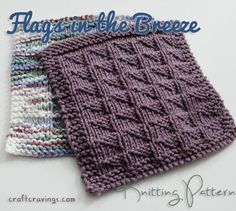 flags in the breeze dishcloth pattern. Easy, cute and practical little ...