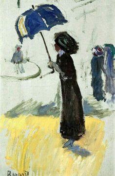 Femme au parapluie - Pierre Bonnard Post- impressionism