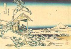 Hokusai - Fuji w porannym śniegu