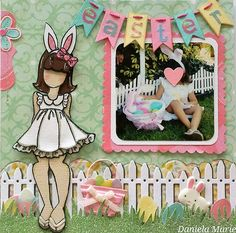 6x6 scrapbook page- Little girl ♥ By Daniela Alvarado.
