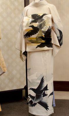 田中翼コレクションから「烏尽くし」 - 田中翼のアンティーク着物~Wing~ yaplog!(ヤプログ!)byGMO