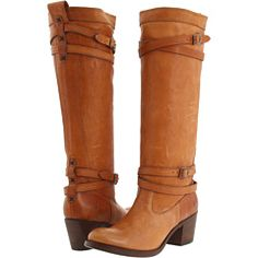 Frye: Jane Strappy boots in Tan