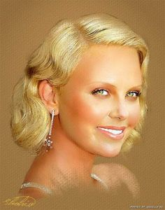 Charlize Theron, Celebrity Drawing