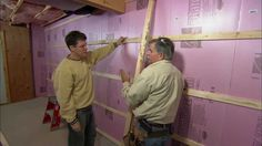 How to Frame Out Basement Walls - This Old House .... love these pros, watch this old house every weekend! this is something we need to do!