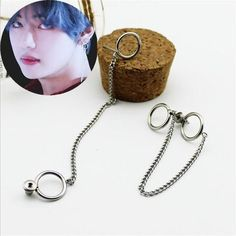 Saan bibili youpop kpop bts bangtan boys album v dna stud earrings jungkook jimin v suga korean fashion jewelry accessories for mens and womens earring Bts Earrings, Chain Earrings, Circle Earrings, Gold Hoop Earrings, Tassel Earrings, Fashion Earrings, Fashion Jewelry, Stud Earring, Double Earrings
