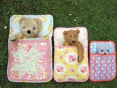Sleeping bags for the dolls and stuffed animals. This would be an easy DIY.