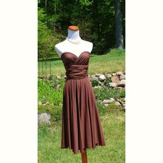 All Occasion Dress in Milk Chocolate. $85.00, via Etsy.