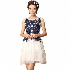 Western Elegant Short Sleeve Embroidery Pretty Dresses White Black
