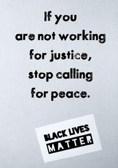 If all lives matter, then black lives must matter.