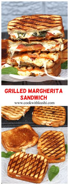 Grilled Margherita Sandwich is a fresh, light and flavorful sandwich prepared using delicious white bread & your favorite classic pizza ingredients. A sandwich that is perfect for picnics, potluck, holiday lunch or dinner gatherings – or in other words, a sandwich that is perfect for anytime of the year! #pizzasandwich #grilledcheese #margherita #pizzasauce #grilledveggies #summersandwich  #summerfood #grilledrecipes #vegetariansandwichrecipes  #recipesforcrowd #potluckrecipes #dinnerideas Potluck Recipes, Fall Dinner Recipes, Grilling Recipes, Summer Recipes, Beef Recipes, Cooking Recipes, Water Recipes, Family Recipes, Cooking Ideas