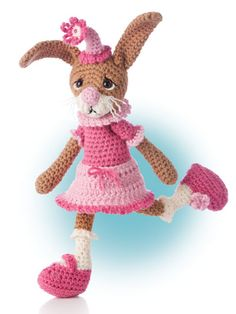 "Crochet rabbit design included in the crochet pattern book ""Animal Amigurumi to Crochet"" available at Anniescatalog.com."