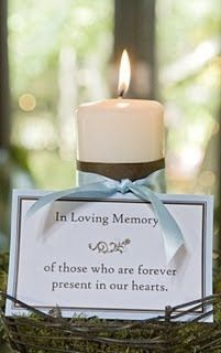 A nice idea to remember all those who should be here, but can't be x