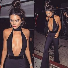 Kendall Jenner looked stunning in this black jumpsuit! Kylie Jenner, Kendall Jenner Style, Kendall Jenner Workout, Maquillage Kendall Jenner, Le Style Du Jenner, The Ghostbusters, Girl Fashion, Fashion Outfits, Overalls Fashion