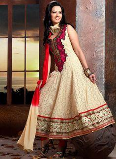 Captivating Net Jacquard Anarkali Suit
