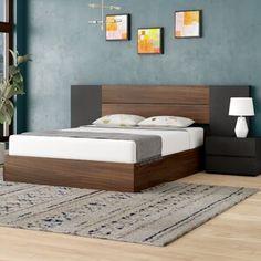 Porrima Platform 4 Piece Bedroom Set – My Style Wood Bed Design, Bedroom Bed Design, Bedroom Furniture Design, Bed Furniture, Bedroom Decor, Bedroom Ideas, Furniture Ideas, Furniture Layout, Furniture Stores