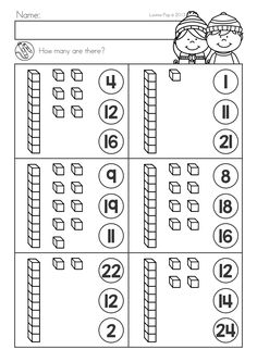 Kindergarten Winter Math Worksheets & Activities – Winter No Prep. A page from the unit: base ten Winter Math Worksheets & Activities No Prep Math For Kids, Fun Math, Math Games, Math Activities, Kindergarten Math Worksheets, Preschool Math, Teaching Math, Spelling Worksheets, Kindergarten Prep