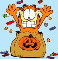 Garfield is my hero. Gato Garfield, Garfield Cartoon, Garfield Comics, Garfield Quotes, Garfield Halloween, Halloween Cartoons, Holidays Halloween, Happy Halloween, Halloween Stuff