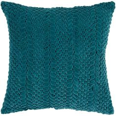 Artistic Weavers Vorkuta Teal Solid Polyester 18 in. x 18 in. Throw Pillow - The Home Depot : Artistic Weavers Vorkuta Poly Euro Pillow, Blue Teal Pillows, Accent Pillows, Decorative Throw Pillows, Decorative Accents, Modern Pillows, Decorative Accessories, Pillow Texture, Cotton Velvet, Cotton Pillow