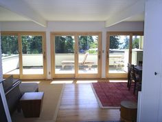 Old outdated energy inefficient windows and doors converted into three brand new Renewal by Andersen sliding patio doors in south park